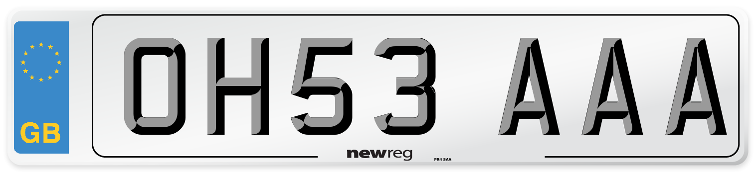 OH53 AAA Number Plate from New Reg