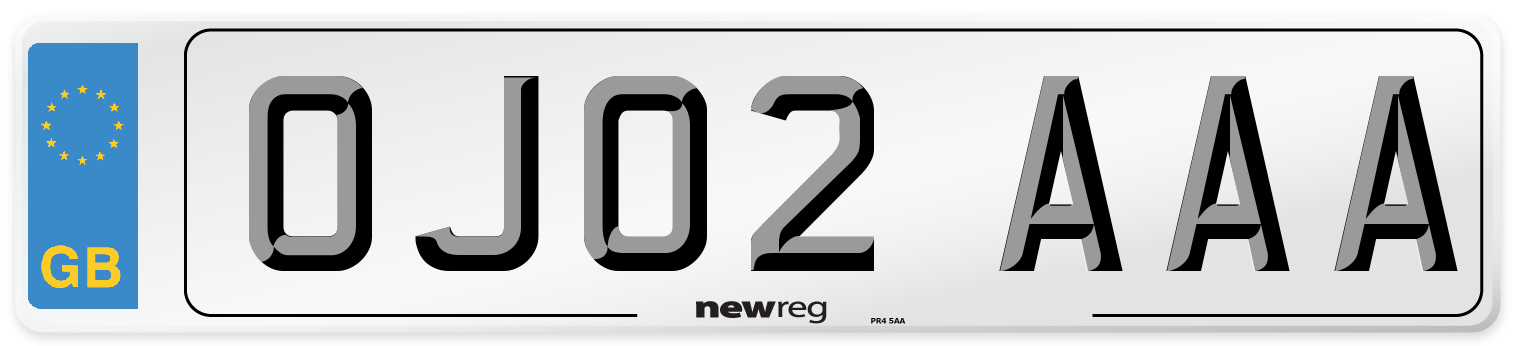 OJ02 AAA Number Plate from New Reg