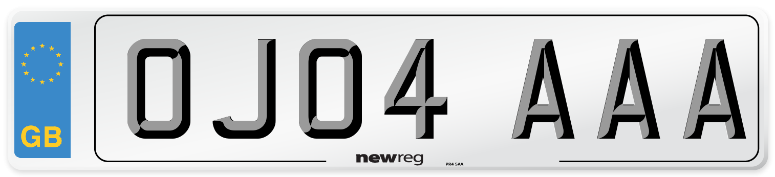 OJ04 AAA Number Plate from New Reg