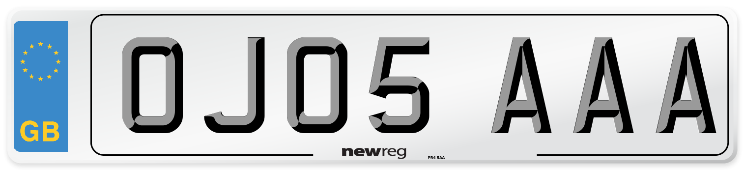 OJ05 AAA Number Plate from New Reg
