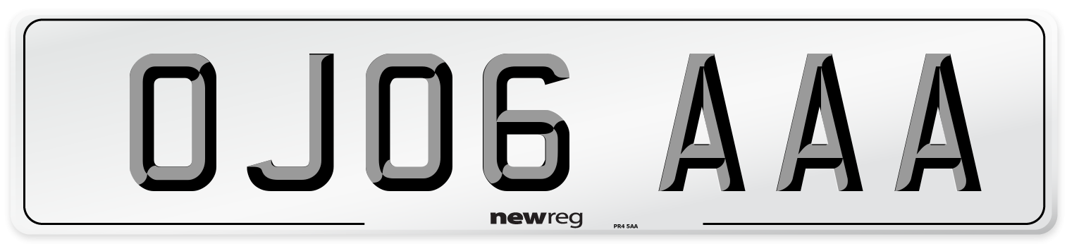 OJ06 AAA Number Plate from New Reg