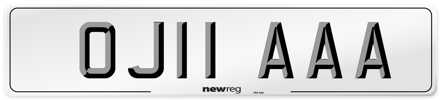 OJ11 AAA Number Plate from New Reg