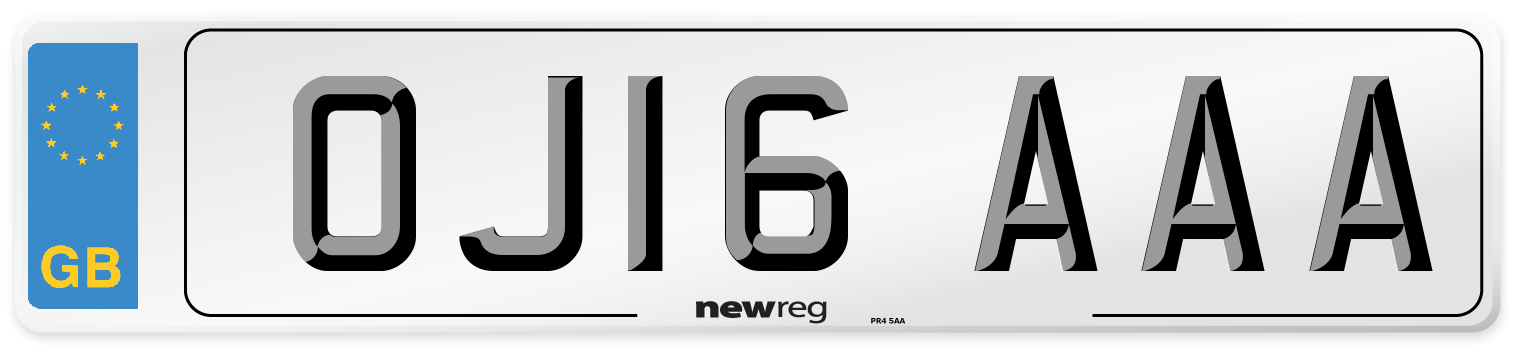 OJ16 AAA Number Plate from New Reg