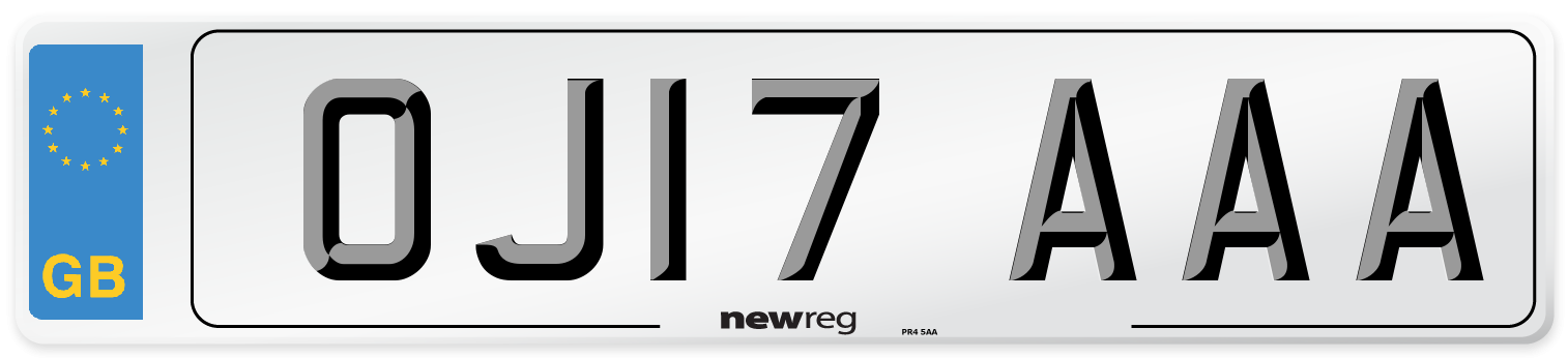 OJ17 AAA Number Plate from New Reg