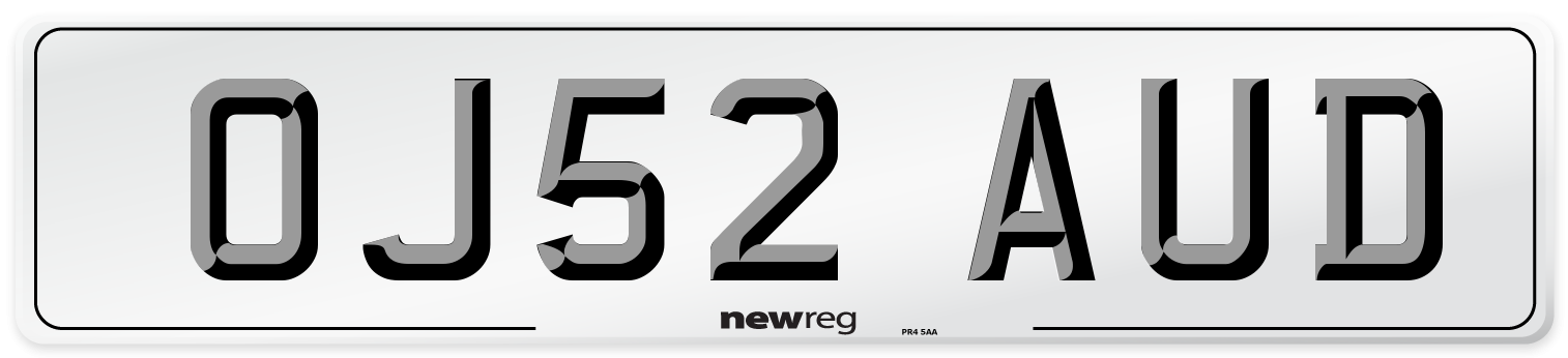 OJ52 AUD Number Plate from New Reg