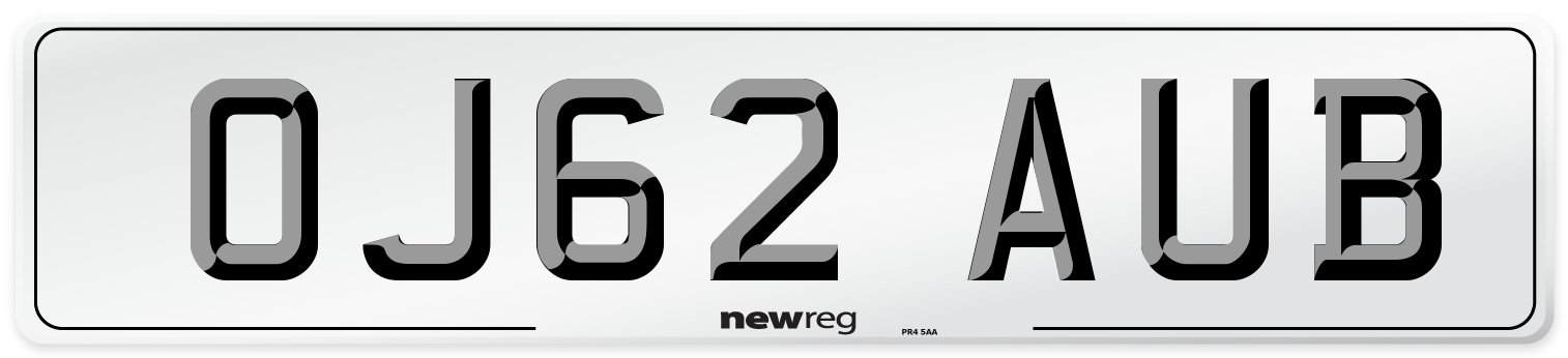 OJ62 AUB Number Plate from New Reg