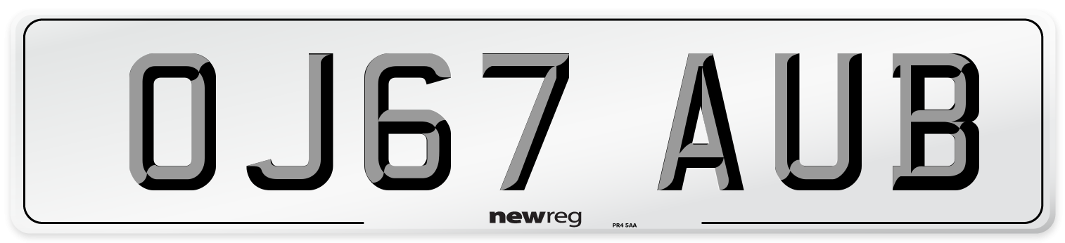 OJ67 AUB Number Plate from New Reg