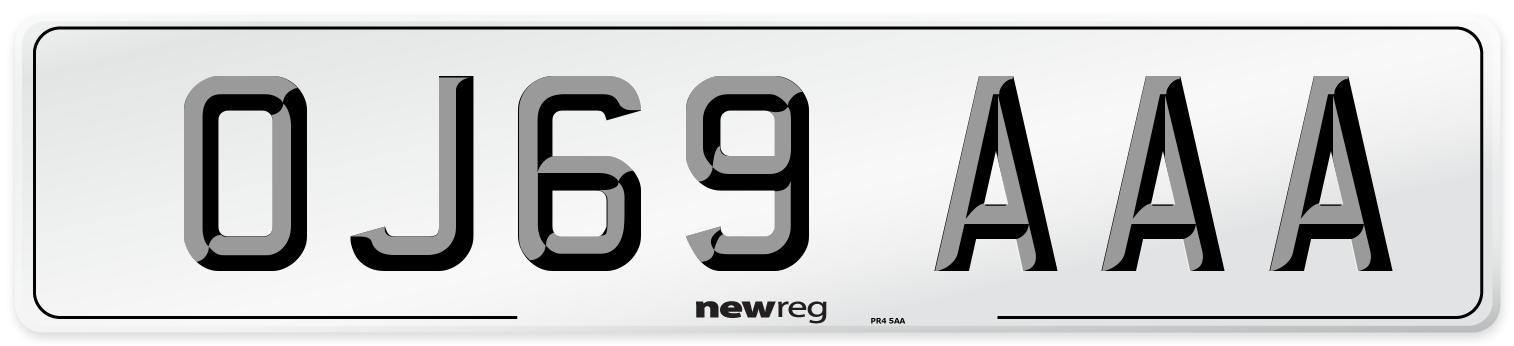 OJ69 AAA Number Plate from New Reg