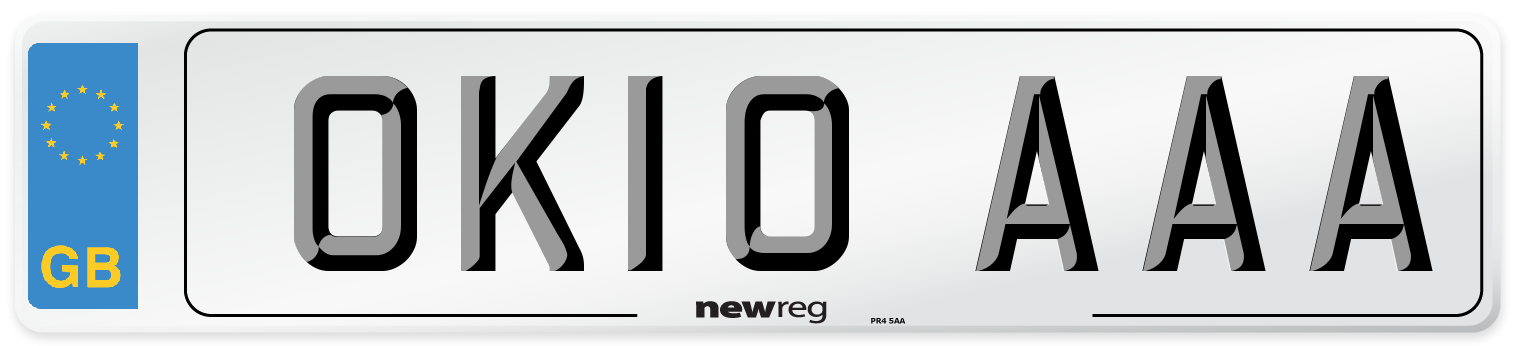 OK10 AAA Number Plate from New Reg