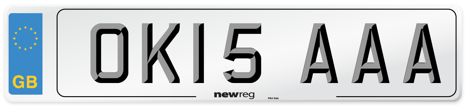 OK15 AAA Number Plate from New Reg