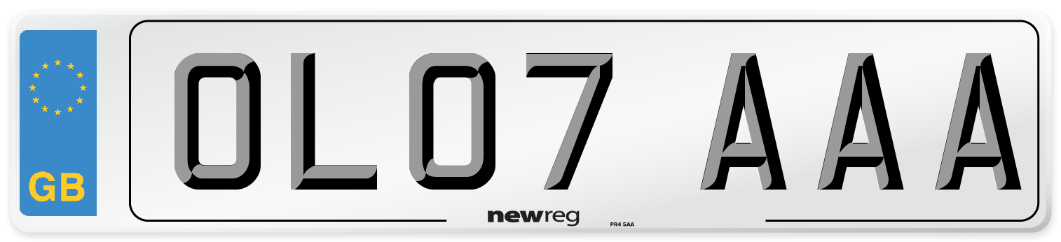 OL07 AAA Number Plate from New Reg