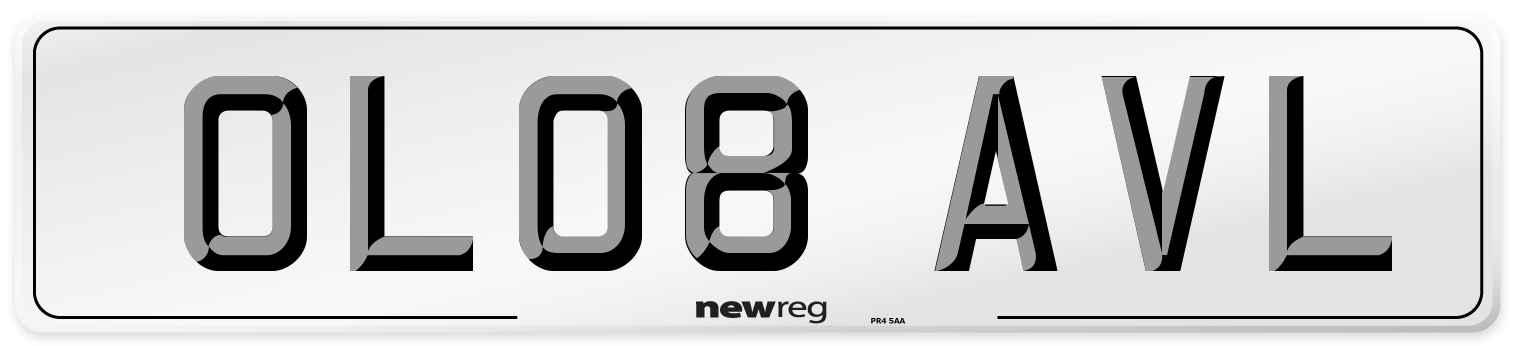 OL08 AVL Number Plate from New Reg