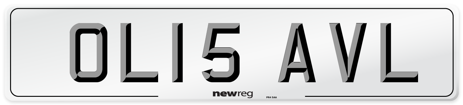 OL15 AVL Number Plate from New Reg