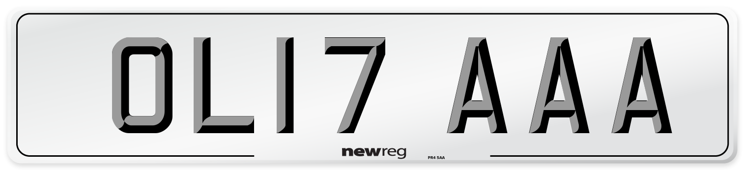 OL17 AAA Number Plate from New Reg