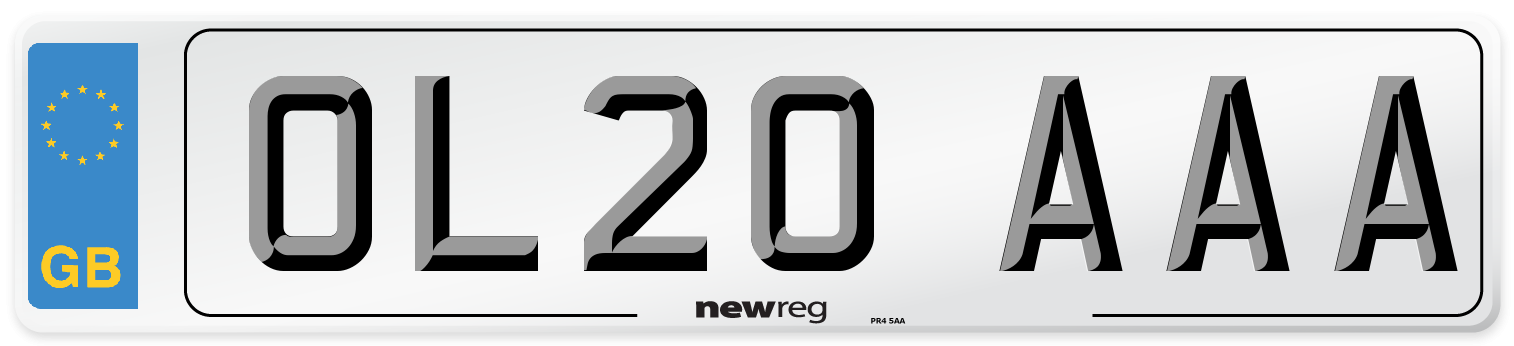 OL20 AAA Number Plate from New Reg