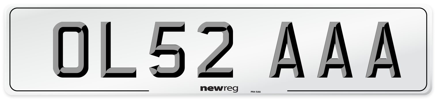 OL52 AAA Number Plate from New Reg