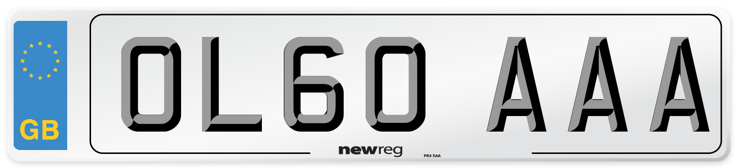 OL60 AAA Number Plate from New Reg