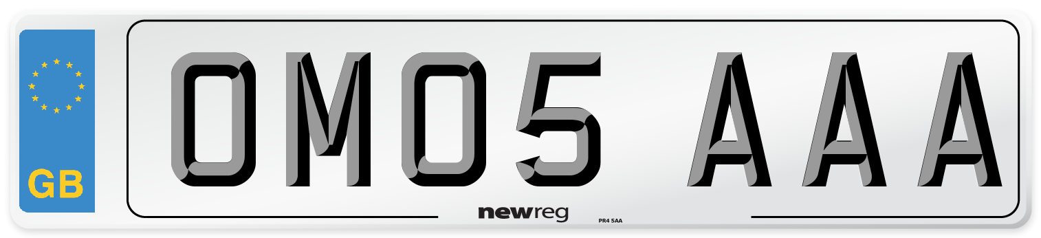 OM05 AAA Number Plate from New Reg