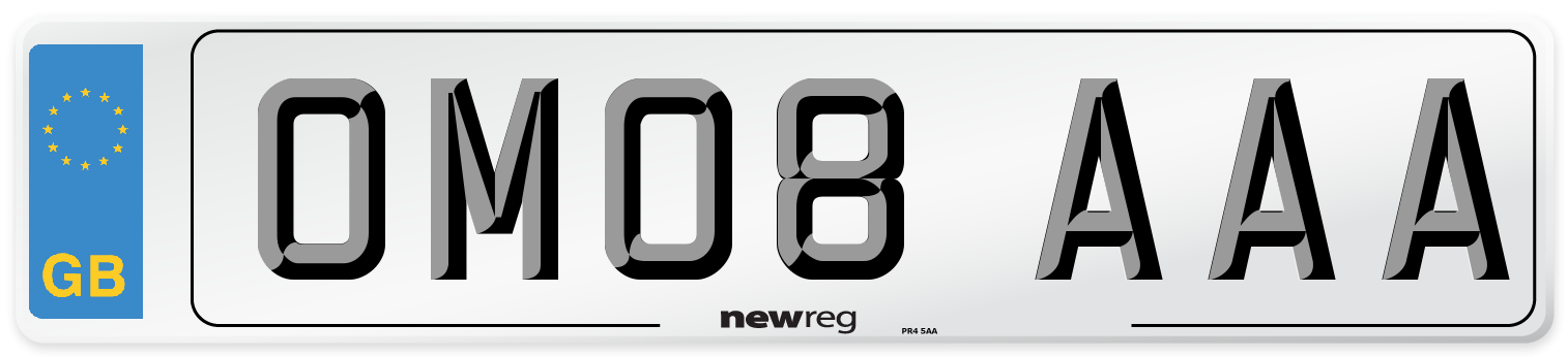 OM08 AAA Number Plate from New Reg