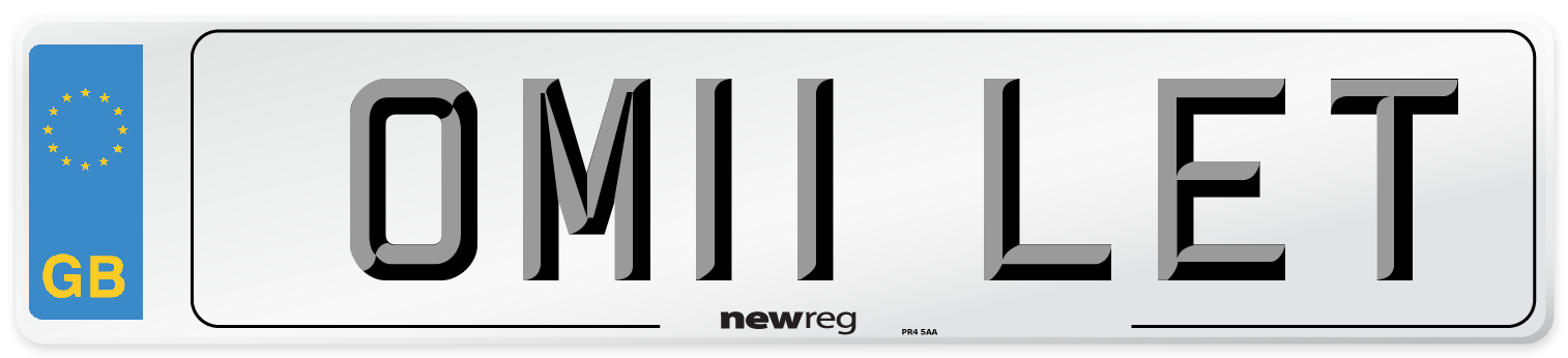 OM11 LET Number Plate from New Reg