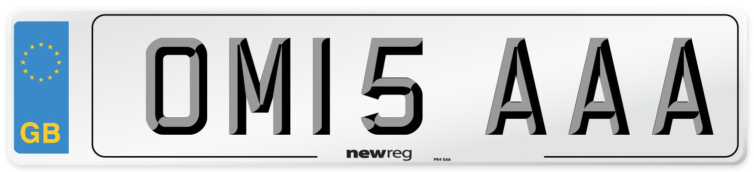 OM15 AAA Number Plate from New Reg