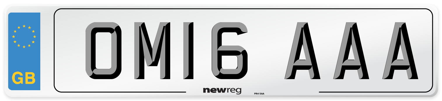 OM16 AAA Number Plate from New Reg