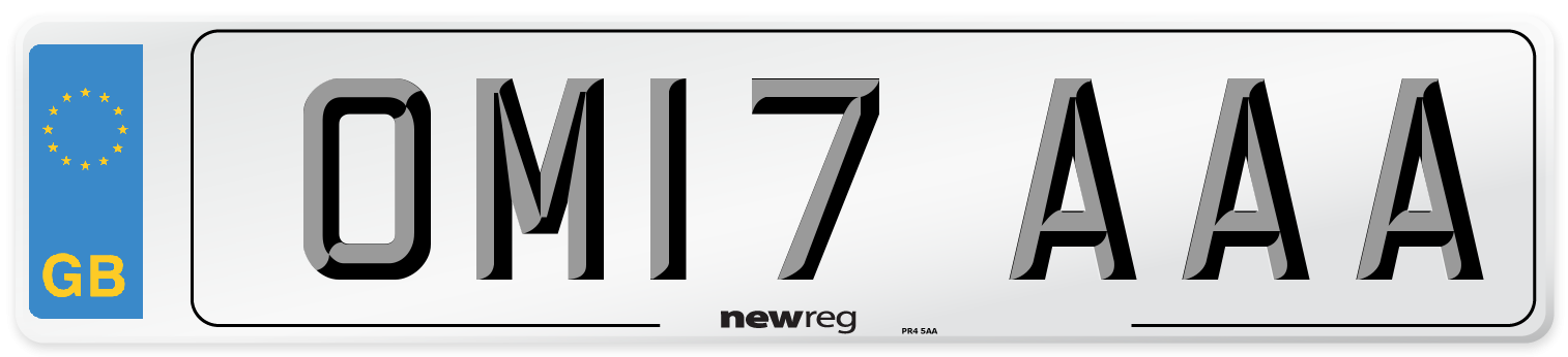 OM17 AAA Number Plate from New Reg