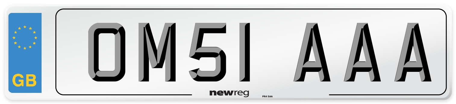 OM51 AAA Number Plate from New Reg