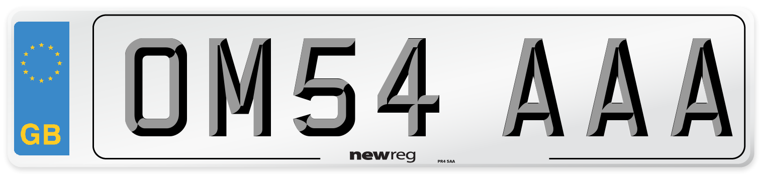 OM54 AAA Number Plate from New Reg