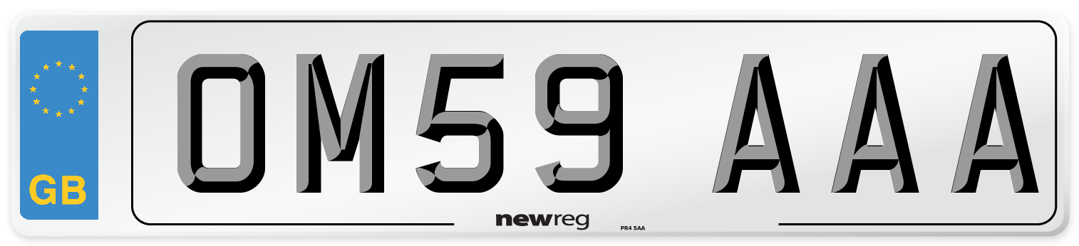 OM59 AAA Number Plate from New Reg
