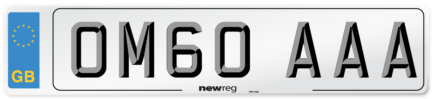 OM60 AAA Number Plate from New Reg