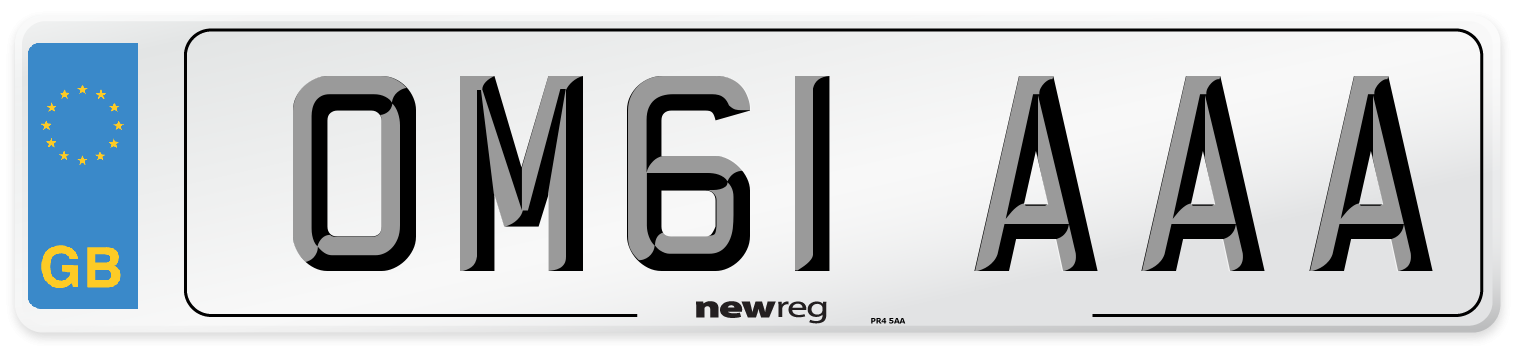 OM61 AAA Number Plate from New Reg
