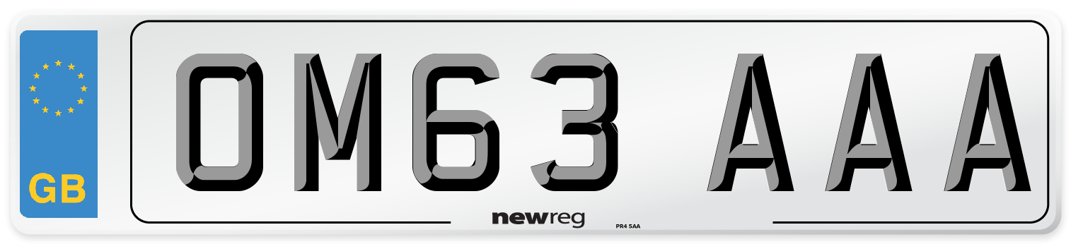 OM63 AAA Number Plate from New Reg
