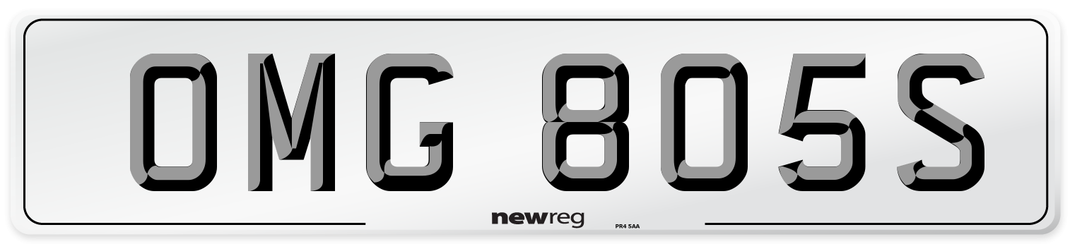 OMG 805S Number Plate from New Reg