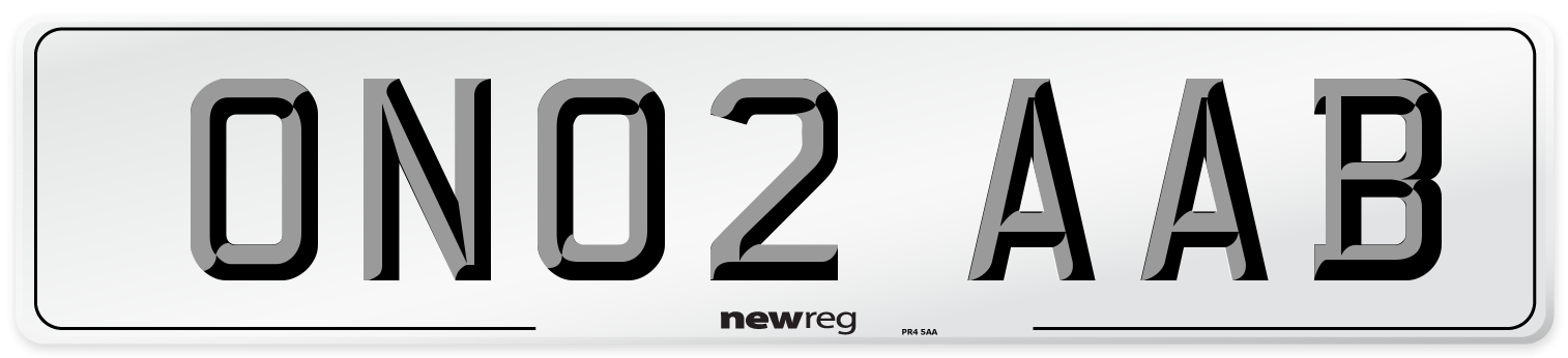 ON02 AAB Number Plate from New Reg