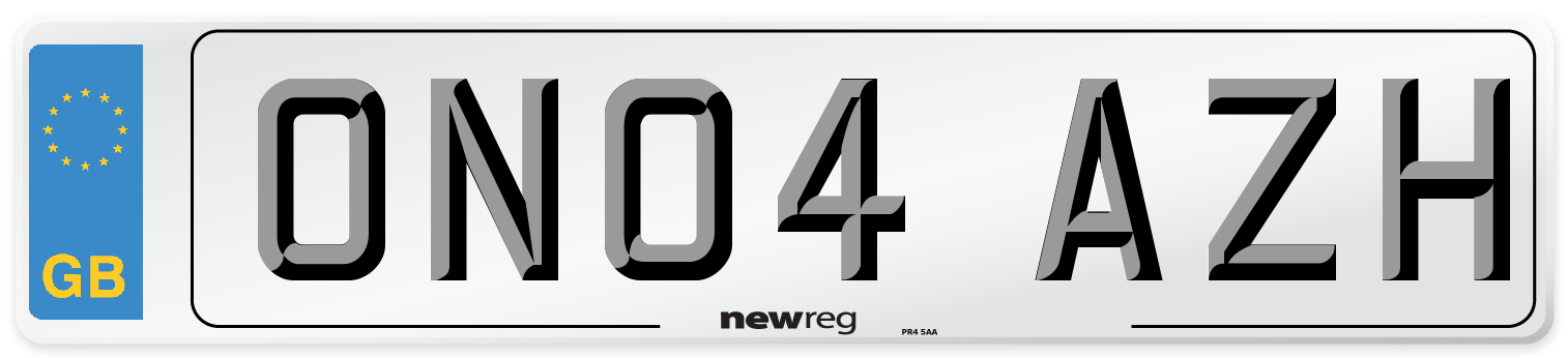 ON04 AZH Number Plate from New Reg
