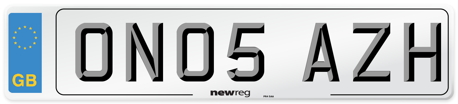 ON05 AZH Number Plate from New Reg