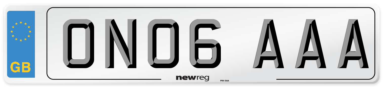 ON06 AAA Number Plate from New Reg