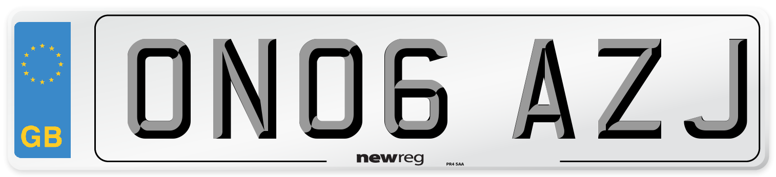 ON06 AZJ Number Plate from New Reg
