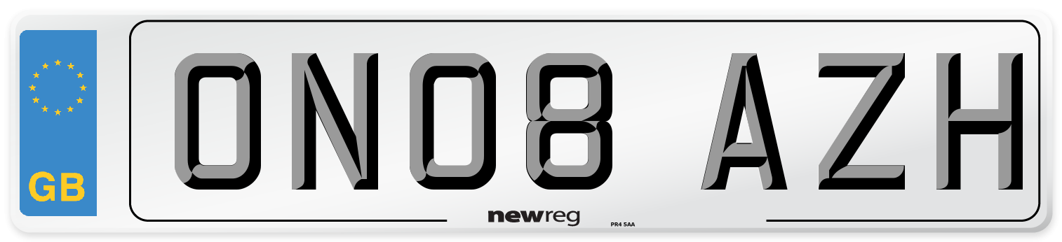 ON08 AZH Number Plate from New Reg