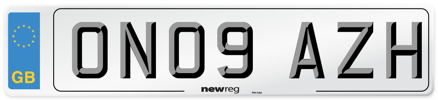 ON09 AZH Number Plate from New Reg