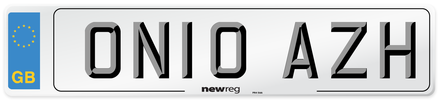 ON10 AZH Number Plate from New Reg