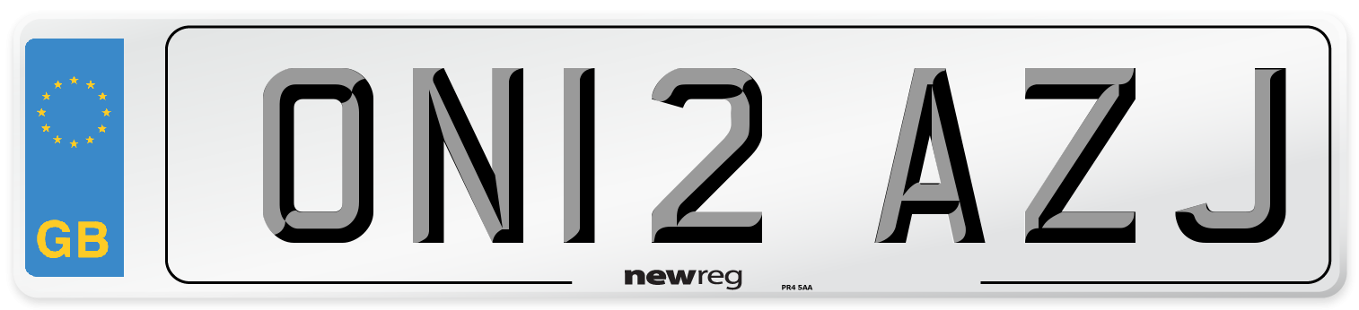 ON12 AZJ Number Plate from New Reg