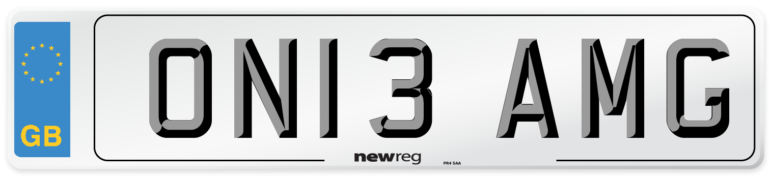 ON13 AMG Number Plate from New Reg
