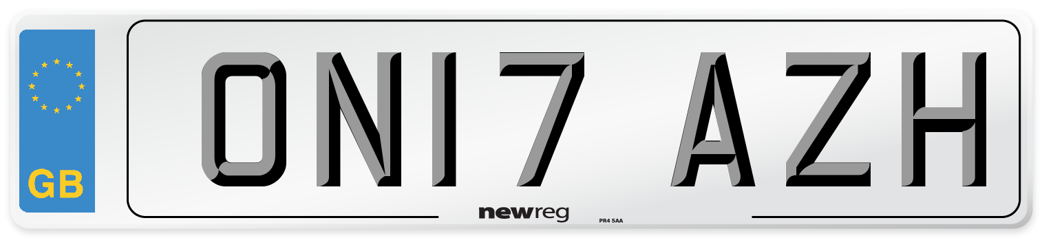 ON17 AZH Number Plate from New Reg