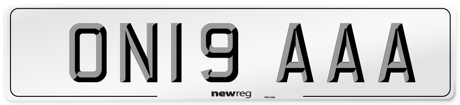 ON19 AAA Number Plate from New Reg