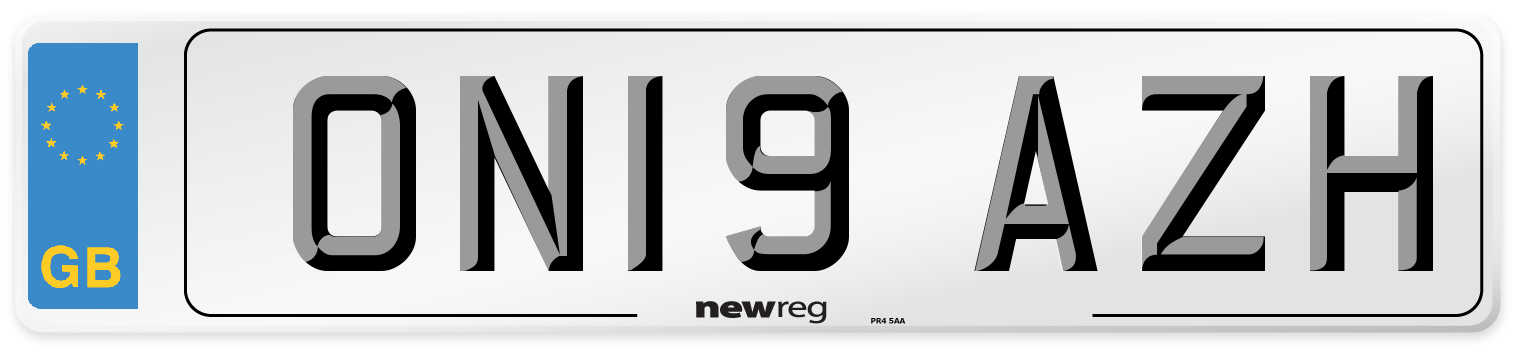 ON19 AZH Number Plate from New Reg