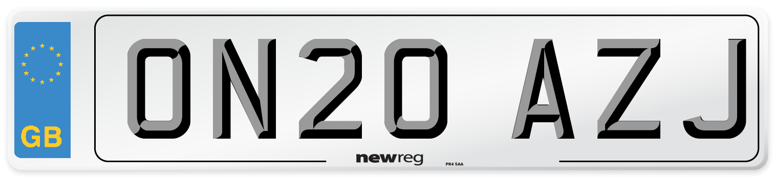 ON20 AZJ Number Plate from New Reg