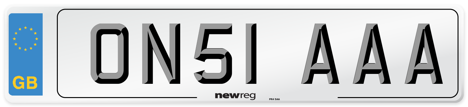ON51 AAA Number Plate from New Reg