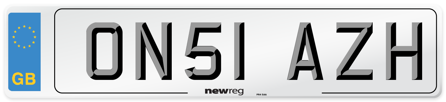 ON51 AZH Number Plate from New Reg